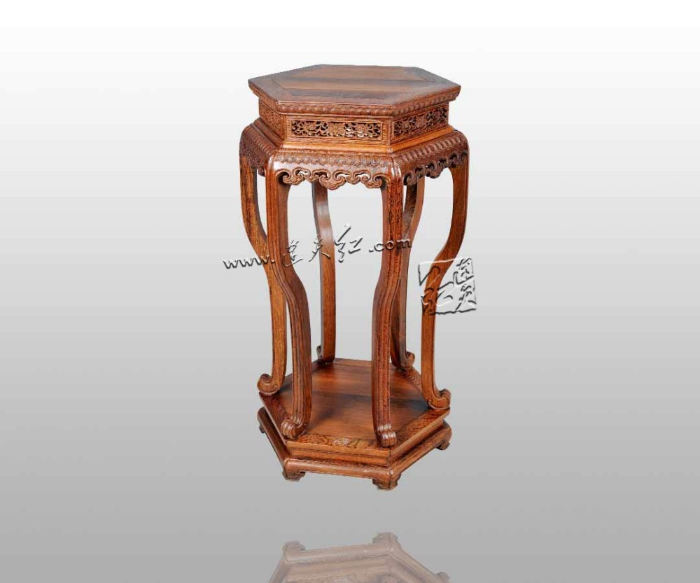 Chinese Ming&Qing Classical Home Furniture Patterns Flower Stand Burner table Burma Rosewood Arts&Crafts House Washstand Luxury free shipping christmas deer table european diy arts crafts home decorative elk wood craft gift desk self build puzzle furniture