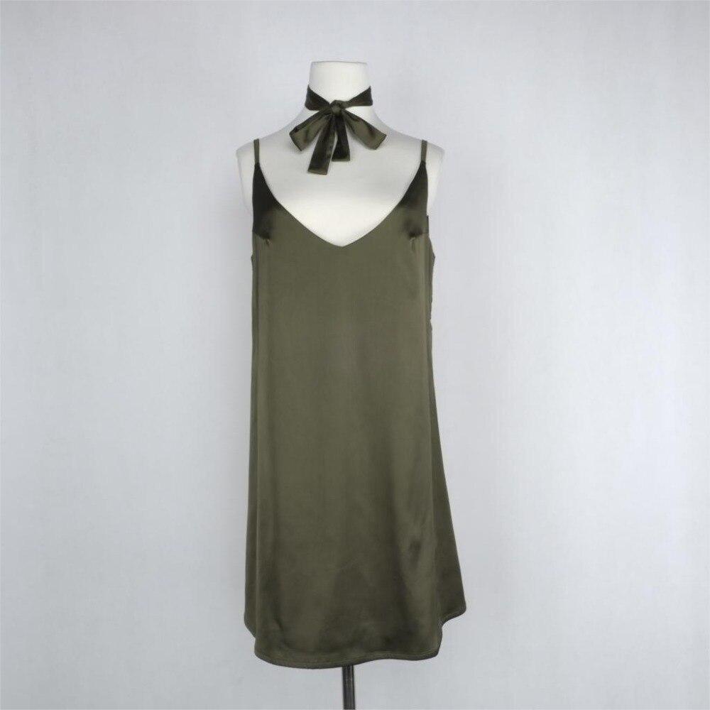2016 New Fashion Sexy V Neck Satin Slip Summer Dress Sleeveless  Mini Halter Evening Bodycon Club Wear Female Party Dresses