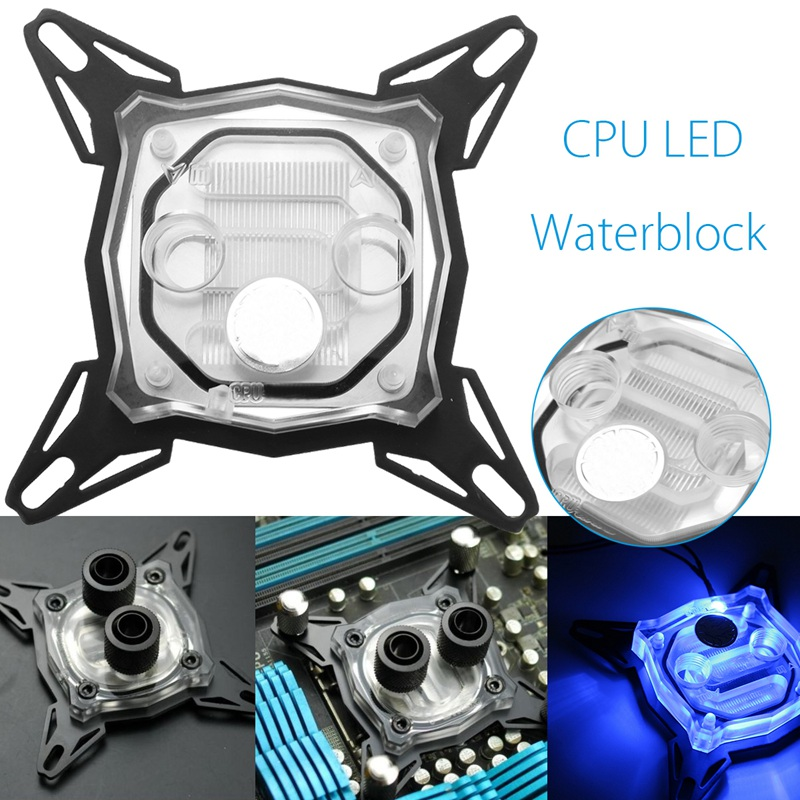 LED CPU Water Cooling Block Radiator Waterblock Acrylic Copper Cooler RGB Liquid Heatsinks for Intel 1150 1155 1156 alloyseed g1 4 thread computer water cooling gpu waterblock cpu radiator cooler for intel lga 1150 1151 1155 1156