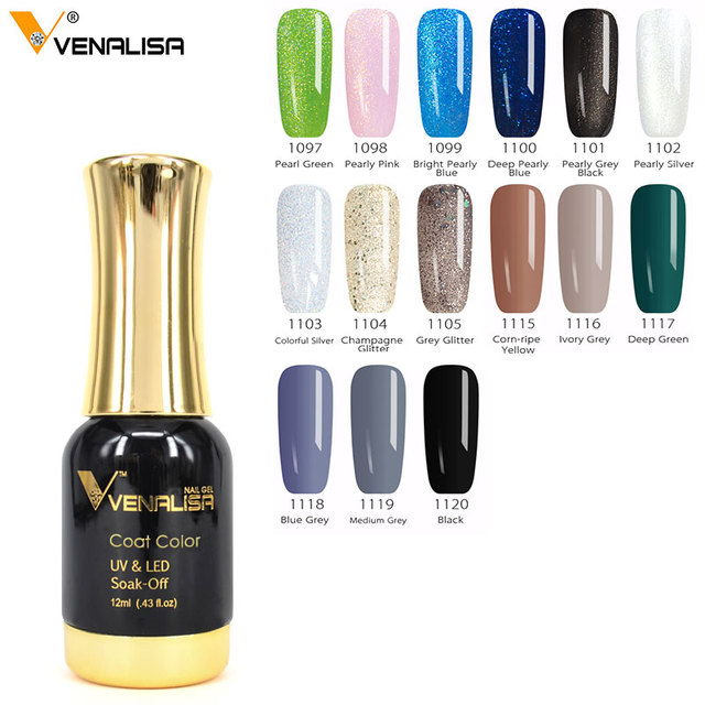 VENALISA Super Color Paint Gel Varnish 12ml 111 Colors CANNI Nail Art Good Glitter Pearl Soak off LED UV Gel Lacquer Nail Polish