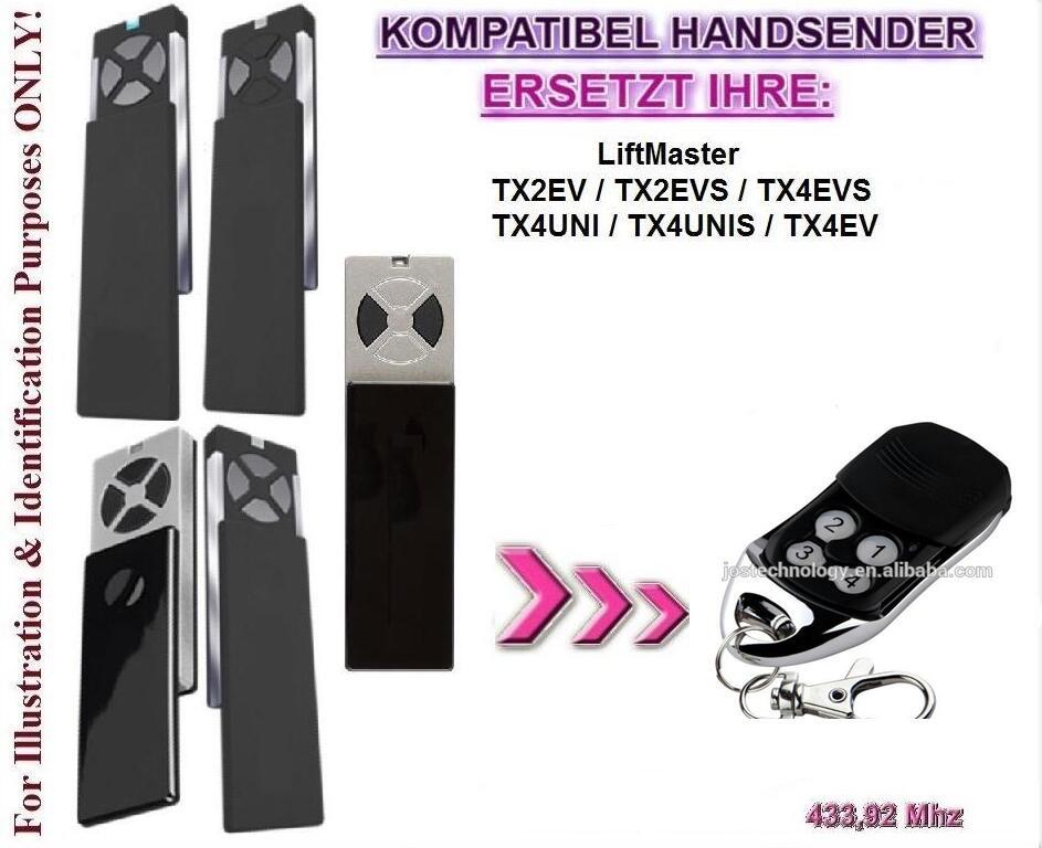 For Liftmaster chamberlain TX2EV / TX4EV  compatible remote control free shipping
