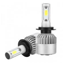 2pcs H7 LED light lamp COB 72W 6500k 7200LM H4 H13 H11 H1 9005 9006 H3 9004 9007 9012 car  fog headlights white