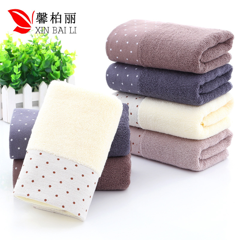 Image 3 - Quality, environmental  health, pure cotton, simple pure color towel, thickened washcloth, gift towel, customized LOGO wholesale-in Storage Bags from Home & Garden