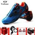 Tiebao Мужская обувь для езды на велосипеде  набор педалей из углеродного волокна  ультралегкие самозакрывающиеся профессиональные велосипед...
