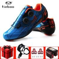 Tiebao men road ciclismo sapatos adicionar pedal conjunto de fibra de carbono ultraleve auto travamento pro bicicleta triathlon sapatos de bloqueio de bicicleta tênis|Sapatos de ciclismo| |  -