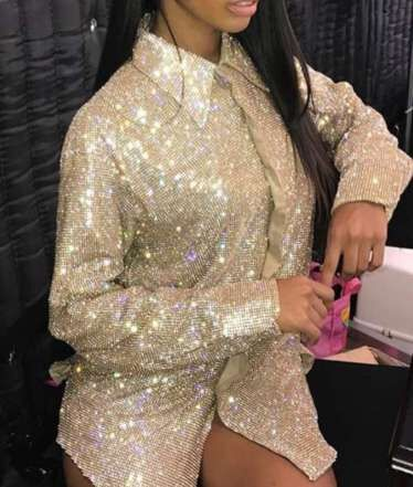 Sparkly AB Crystals Shirt Sexy Evening Jacket Luxury Party Dress Glisten Rhinestones Costume Super Design Stage