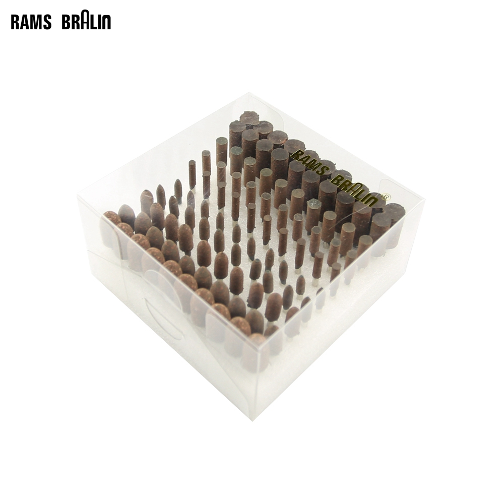 100 Pcs/box Elastic Rubber With Abrasives Mounted Point Dremel Drills Die Grinder Rotary Tools