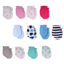 Супер мягкие детские перчатки из хлопка, всесезонные перчатки для новорожденных, защитные перчатки и варежки, Детские аксессуары, детская одежда