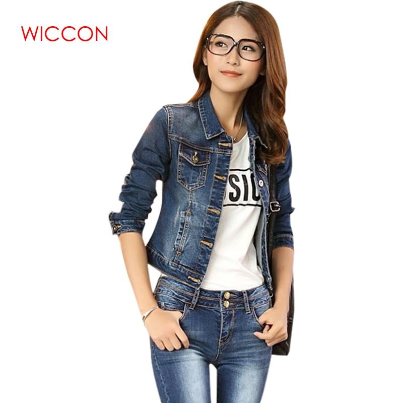 Ladies Teens Casual Long Sleeve Jean Coat Slim Outwear Denim Short Jacket JA