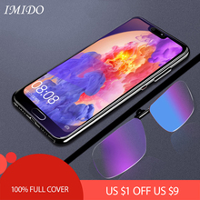 IMIDO for Huawei P20 Pro Full Coverage Anti Blue Tempered Glass for P 20 Lite Anti Blue-ray Screen Protector Protective Film джинсы женские levi s® 501 skinny цвет темно синий 2950200330 размер 27 30 44 30