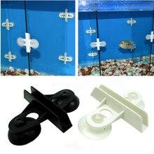 2 шт./лот аквариумные рыбки разделитель для емкости зажим-разделитель на присоске разделители черный пластиковый лист держатель для домашних животных продукты для рыбной культуры