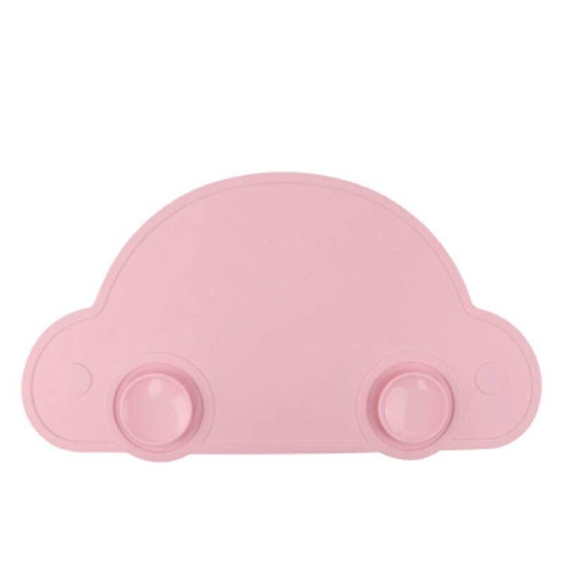 Car Shape Silica Gel Placemat Baby Children Heat Insulation Sucker Suction Pad Kids Table Mat Waterproof Set Home Kitchen Pads