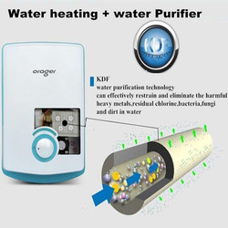 Instant water heater tap Mini Instantaneous Induction Hot Electric Purifier for Kitchen sink   with KDF purification function