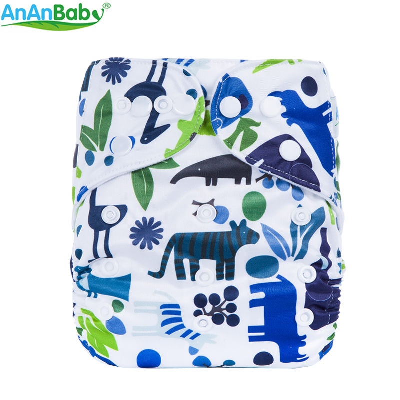 Image 4 - (5Pcs Per Lot)Ananbaby Pocket Cloth Diaper Breathable Nappy Adjustable Cotton Cloth Nappies Without Inserts-in Baby Nappies from Mother & Kids