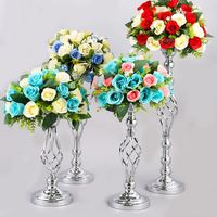 2 PCS wedding decoration table centerpieces flower stands for parties silver and gold wedding table centerpieces candles