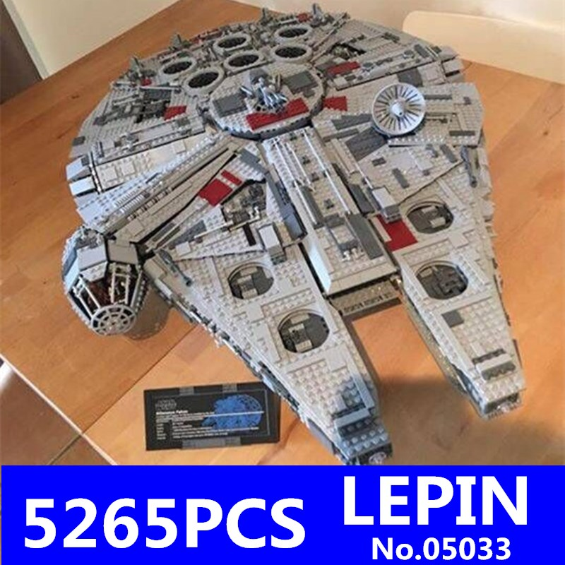 LEPIN 05033 Star Series War 5265Pcs Ultimate Collector's Millennium Toys Falcon Model Building Kit Blocks Bricks Set Toys 10179 2018 dhl lepin star series war 05007 05033 05132 building blocks bricks model toys compatible 75105 10179 75192 gifts