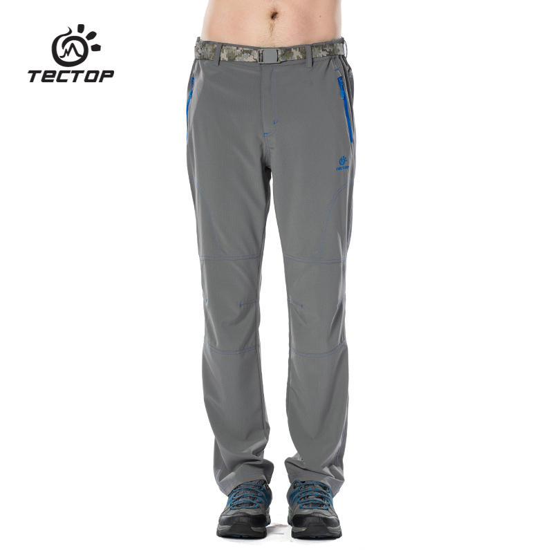 TECTOP PS6179 Spring and Summer Outdoor Quick Dry Shorts Sport Pants Solid Elastic Polyester Men Pants