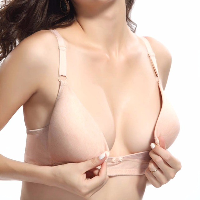 b8ff04fad3a5c New Fashion Pregnant Women Feeding Bras Wireless No Rim Cotton Maternity  Nursing Bra New