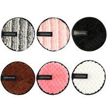 MAANGE 6 uds removedor de maquillaje facial paño de limpieza almohadillas de felpa puff moda nuevo perezoso de doble cara de microfibra removedor de maquillaje puff LD