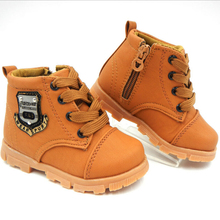 Spring Autumn children Martin boots winter New boys Flat zipper child Lace-up Snow boots girls toddler shoes kids sneakers