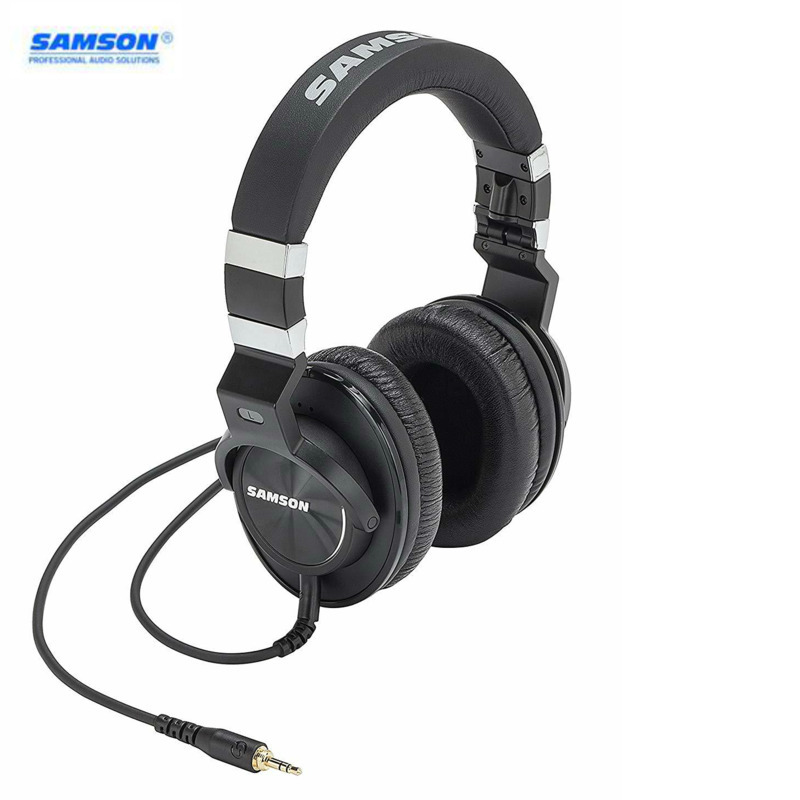 Samson Professional Z35 Closed-Back Studio Headphones High-Protein Leather Comfortable Over-ear Studio Monitor Headphones image