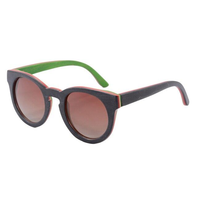 round bamboo sunglasses wooden sunglasses men women vintage sun glasses summer polarized glass 2015 popular new design Z68005
