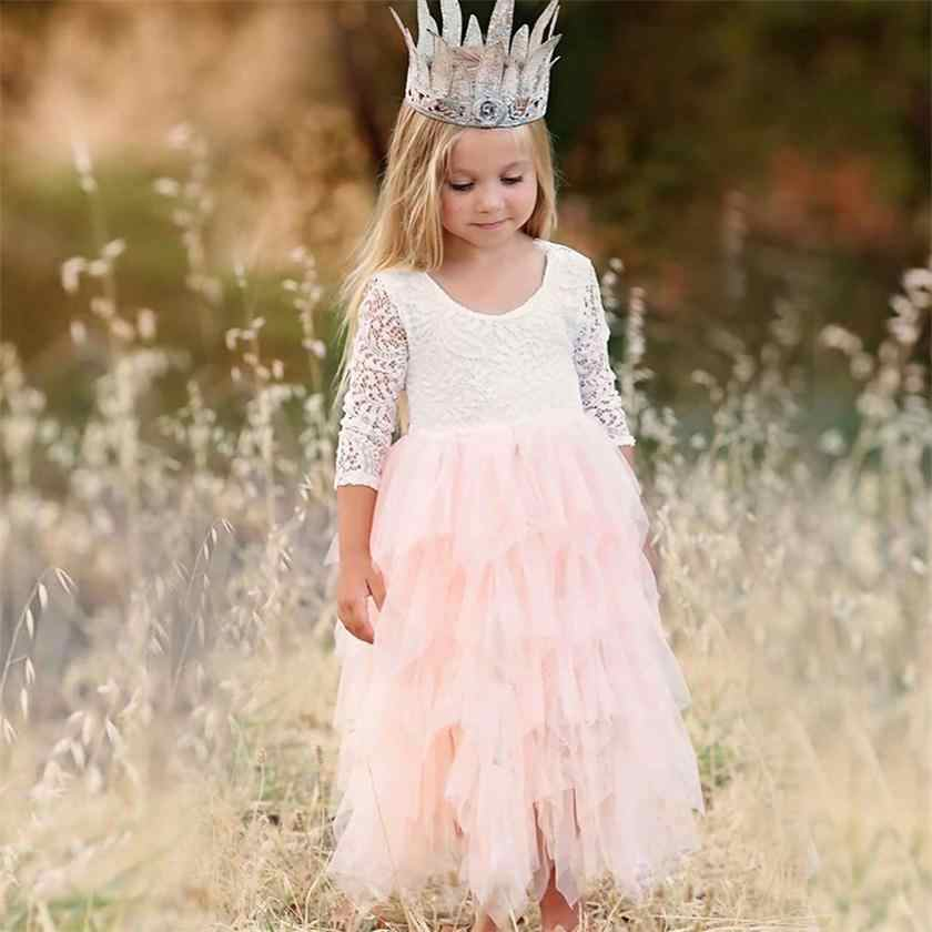 453ea114ccc Children Irregular Tiered Fluffy Dress For Girl Clothes Party Junior  Communion Gown Birthday Frocks 3-