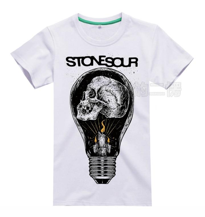 6 designs Stone Sour Rock Brand men shirt 3D fitness Hardrock heavy Metal 100%Cotton white tee Rocker skateboard Streetwear