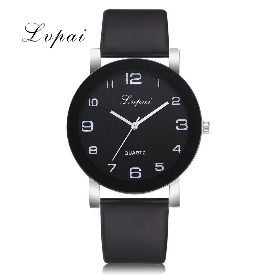 Lvpai Brand Creative Bracelet Watch Women Fashion Leather Black Quartz Wrist Watches Ladies Clock Relogio Feminino Reloj Mujer купить