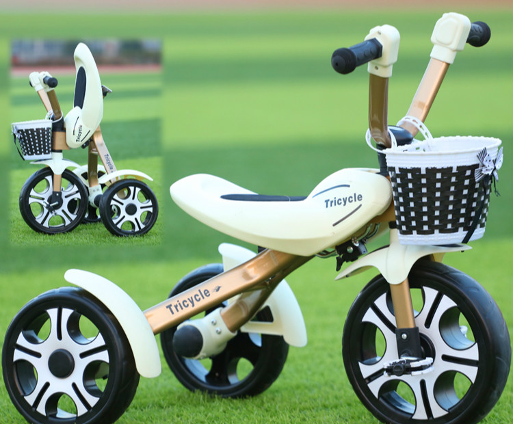 Children tricycle bicycle baby folding bicycle child toy car sbg 1224br alpine
