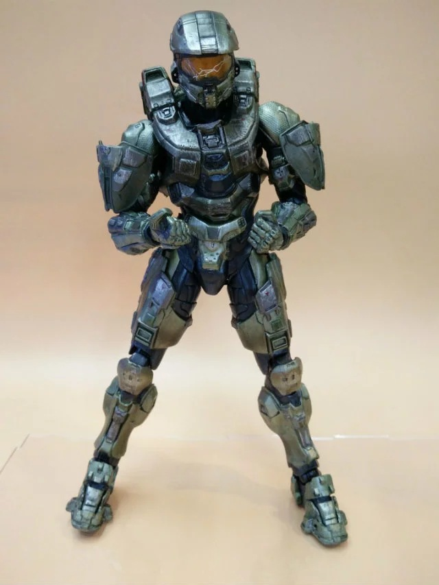 HKXZM Anime Figure 25CM HALO Guardians Master Chief PVC Action Figure Collectible Model Toy Brinquedos Collectible Gift