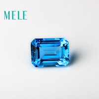 Natural deep blue topaz in 15mmX20mm 30ct square cut for jewelry making, high quality designer diy loose gemstone