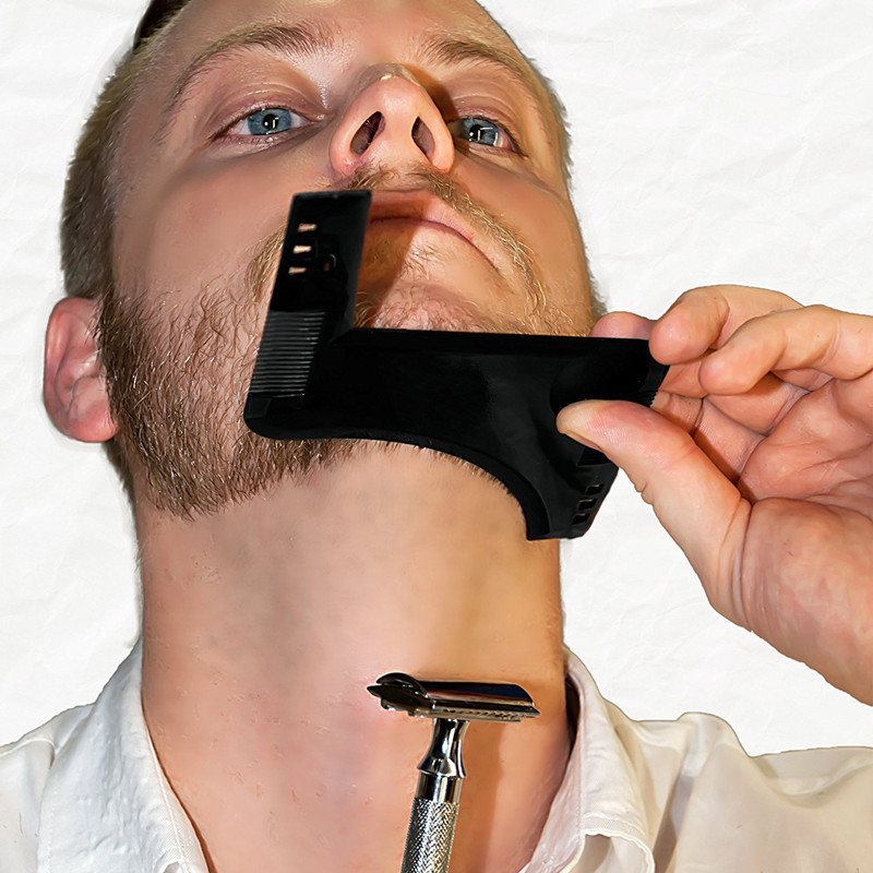 The latest comb molding tool sex men's gentleman beard comb ABS shaping mold beard shaped comb hair brush 1