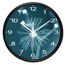 Brief Dandelion Flower Wall Clock Mute Style Wall Clock Fashion