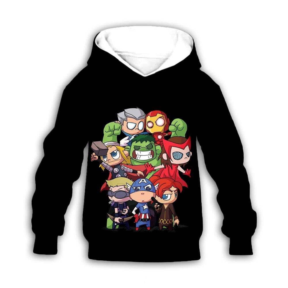 Kids Marvel Avengers 3d hoodies set pants cartoon autumn zipper coat boy girls long sleeve sweatshirts summer t shirts shorts in Matching Family Outfits from Mother Kids