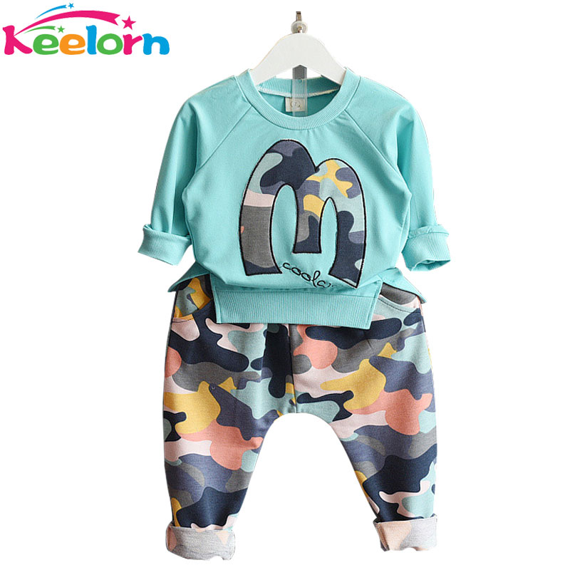 Keelorn 2016 New Casual Style Autumn Striped Baby Boys Sets Tie Long Sleeve Shirt+Jeans Pants 2Ps Boys Clothes Kids Clothes