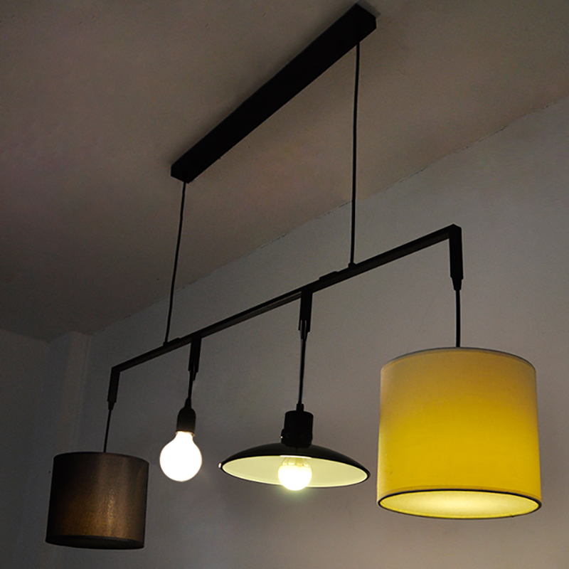Modern 4 lights nordic personality pendant light sitting dinning modern 4 lights nordic personality pendant light sitting dinning room fabric hanging lamp bar hotel decoration suspend lights in pendant lights from aloadofball Image collections