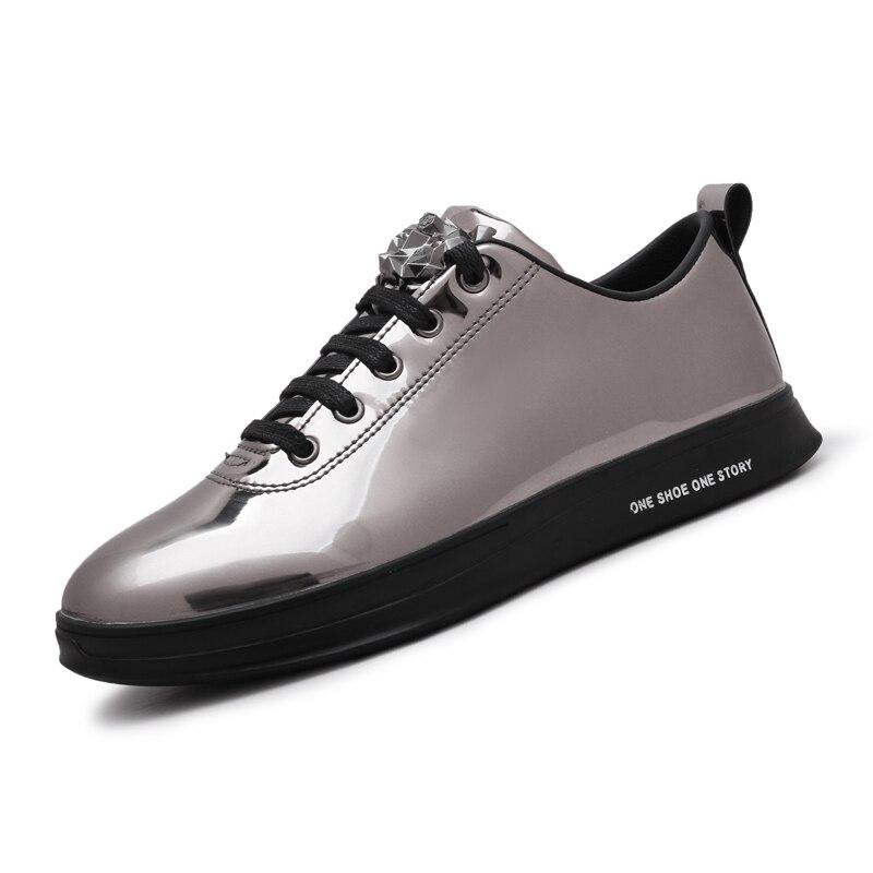 Мужские кроссовки для прогулок из искусственной кожи плоской подошве спортивные кроссовки туфли для бега трусцой для взрослых Спортивная ...