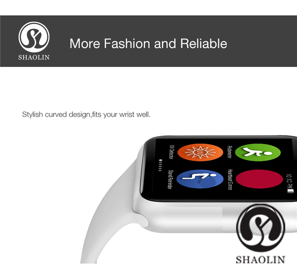 SHAOLIN Bluetooth Smart Watch Heart Rate Monitor Smartwatch Wearable Devices for iPhone IOS and Android Smartpones apple watch-2