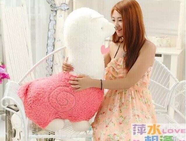 Énorme belle peluche rose mouton jouet créatif nouveau dieu bête poupée gros alpaga jouet cadeau environ 70 cm