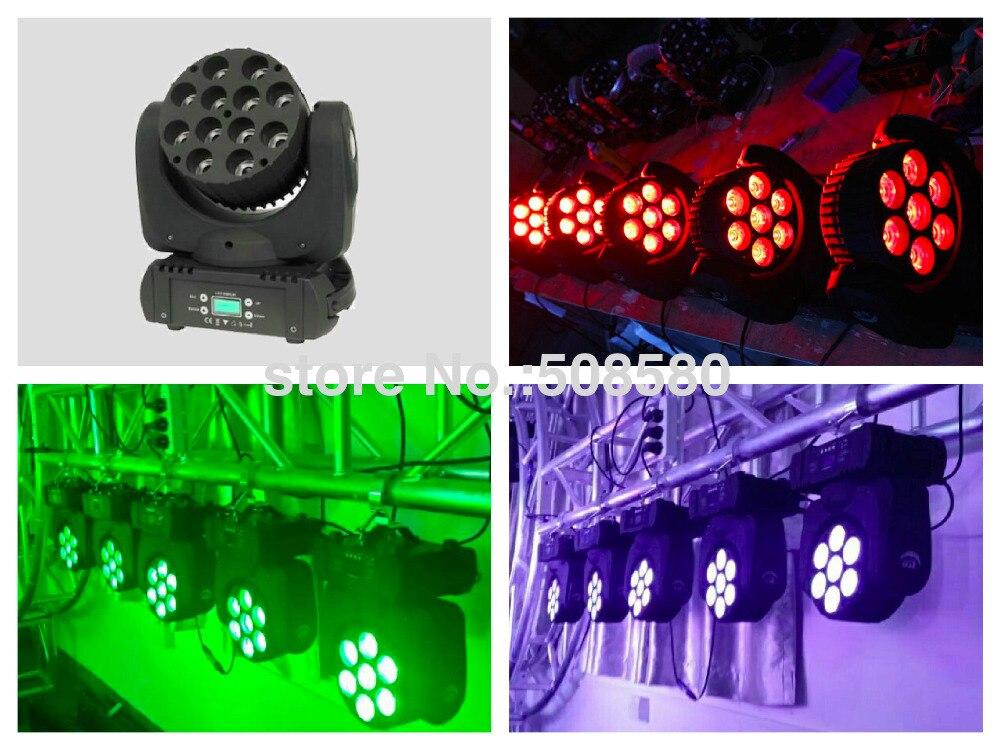 2pcs / lot, faisceau principal mobile de LED 7x12W RGBW 4in1 étape effet de lumière dj disco party concert spectacle projet