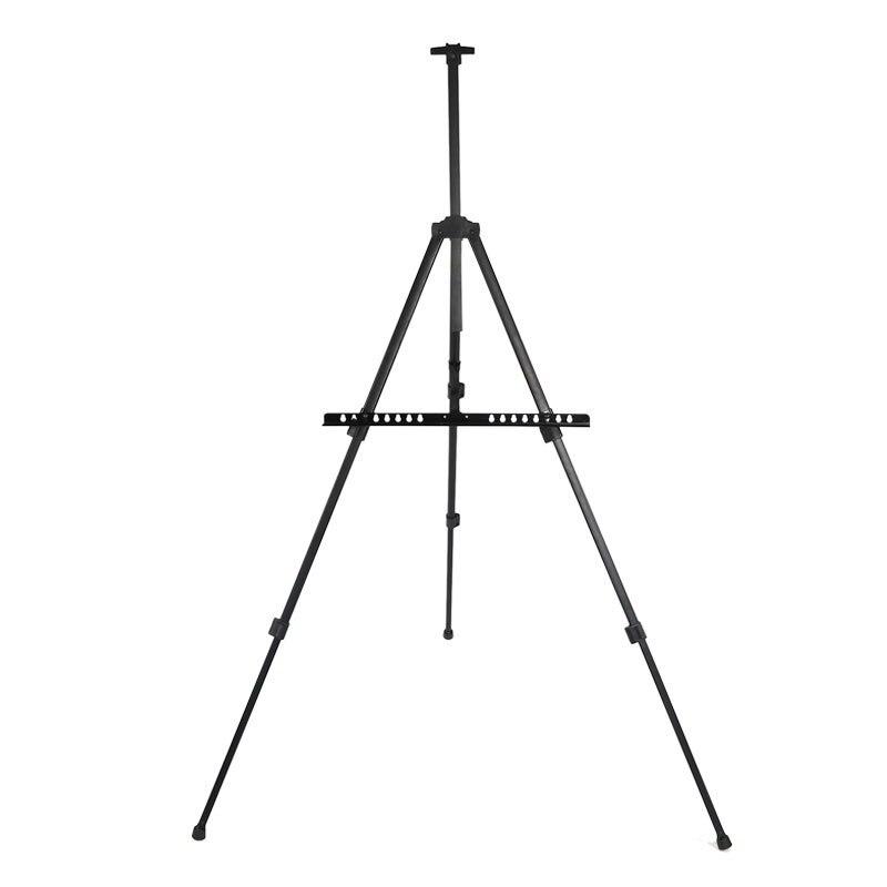 mini small easel black metal display rack three tripod easel folding frame hand telescopic sketch art - Display Easel