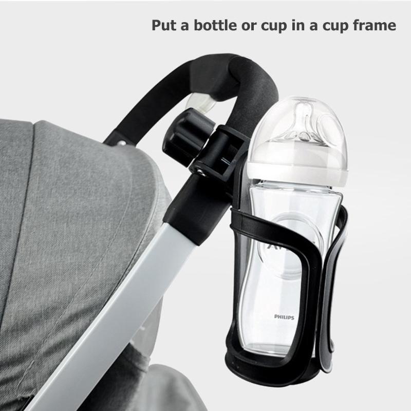 Baby Stroller Bottle Holder Infant Stroller Bicycle Carriage Cart Accessory Plastic Bottle Cup Holder Outdoor 4