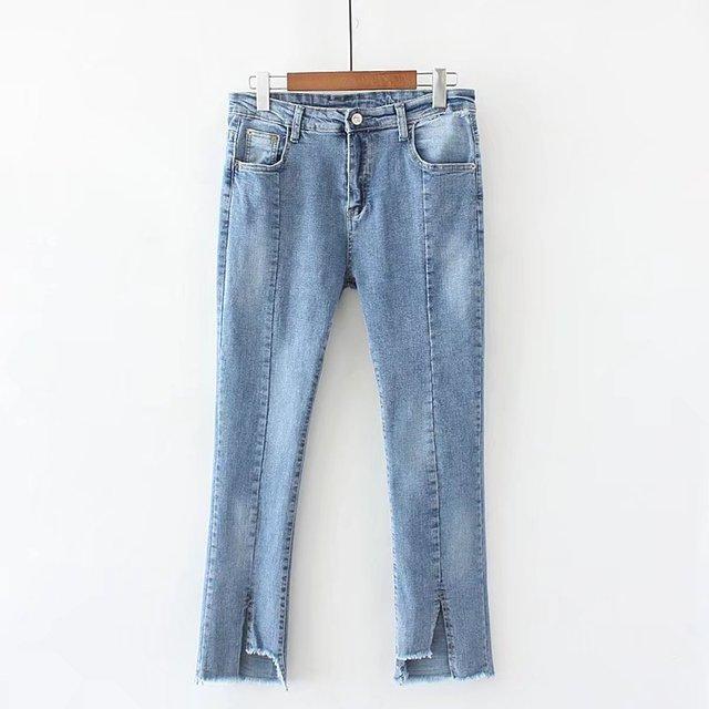 a37edf33b6ff8 S64 Summer Casual Jeans 4X Plus Size Women Clothing Fashion Loose high  waist Stretch Bleached Split