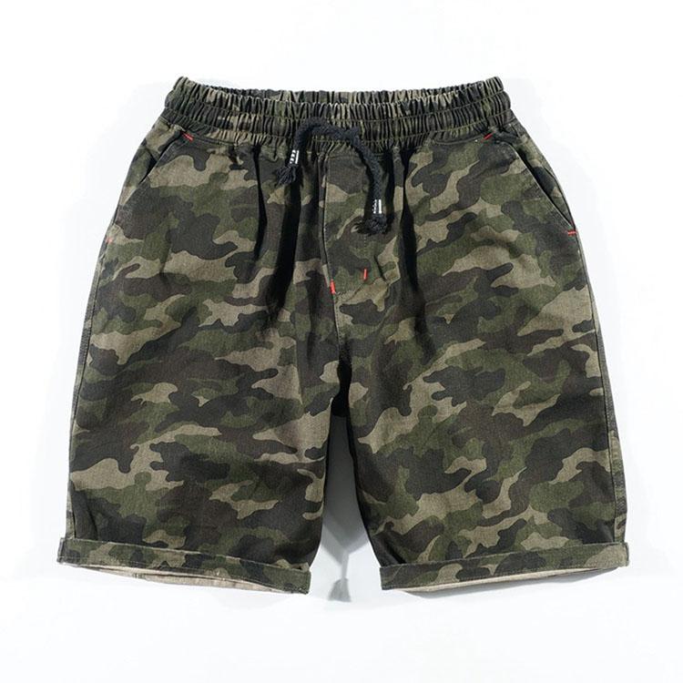 Aolamegs Camouflage Shorts Men Military Style Casual Camo Shorts Men\`s Summer New Fashion Streetwear Elastic Waist Beach Shorts (11)