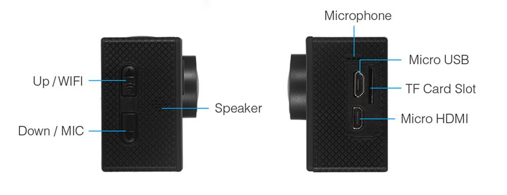 Sports camera 4K SOOCOO C30 Wifi Gyro 30M waterproof Audio