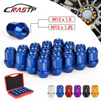 RASTP Universal 35MM 20PCS Racing Forged 7075 T6 Lightweight Wheel Lug Nuts M12x1.25 Car Accessories Have In Stock RS LN045