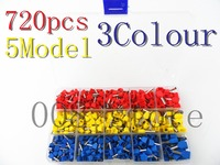 720pcs A Lot Twins Dual Bootlace Ferrule Teminator Kit Electrical Crimp Dual Entry Cord End Wire