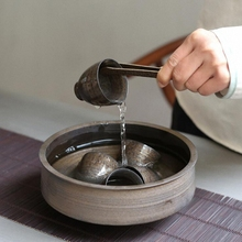 PINNY 1300 мл Ретро Ржавчина глазурь большие чаши для мытья чая пигментированная чаша для мытья кунг-фу чайная церемония аксессуары ручной работы чайный сервис