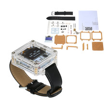Digital Watch Electronic Clock Kit Single-Chip Transparent Watch DIY LED Digital Tube Wristwatch DIY Kit Replaceable watchband(China)